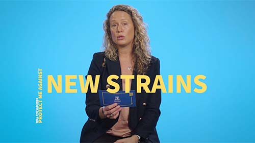 Still image from video 'Will the vaccines protect me against new strains of COVID-19?'
