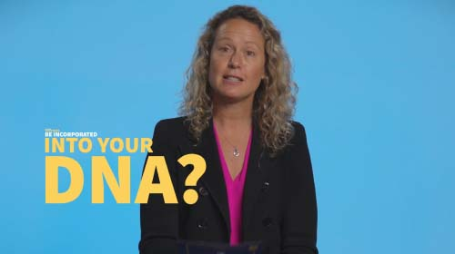 Still image from video 'Will mRNA vaccines be incorporated into your DNA?'