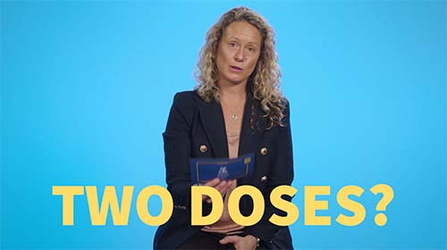 Still image from video 'Does the Moderna vaccine require two doses?'