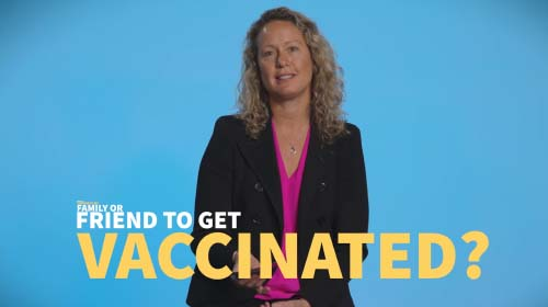 Still image from video 'How can I convince my family or friend to get vaccinated?'