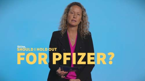 Still image from video: I'm eligible for the AstraZeneca vaccine, should I hold out for Pfizer?