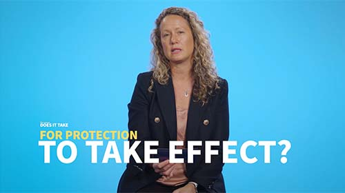 Still image from video 'How long after the vaccine does protection take effect?'