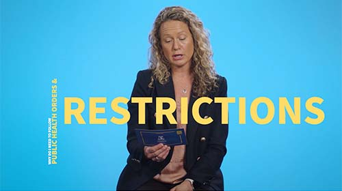 Still image from video 'Why do I need to follow public health orders and restrictions if I've been vaccinated?'